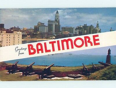 Unused Pre-1980 TWO VIEWS ON CARD Baltimore Maryland MD ho7334