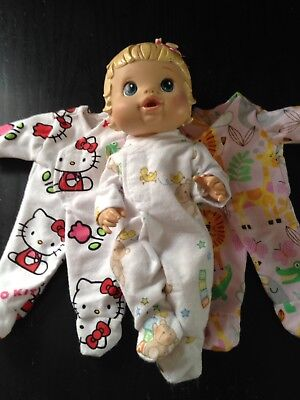 Homemade Little Baby Alive Coverall - 3 Pattern Choices (for 33cm Doll)