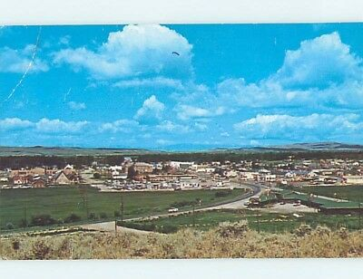 Pre-1980 PANORAMIC VIEW Pinedale Wyoming WY hp4271