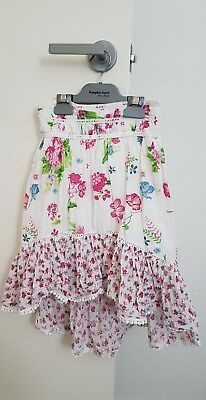Pumpkin Patch Girl's Floral Cotton Skirt Size 8 - As New