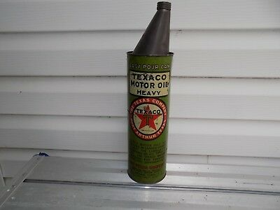 Vintage Texaco Easy Pour Oil Can Texaco Oil