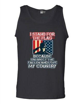 I Stand For The Flag I Respect The Fallen Love My Country (D) DT Adult Tank Top