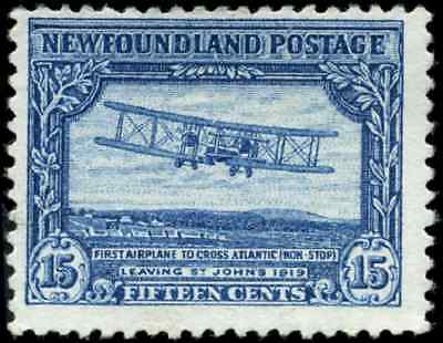 Newfoundland #170 mint F NG 1929 Pictorial 15c 1st Nonstop Transatlantic Flight