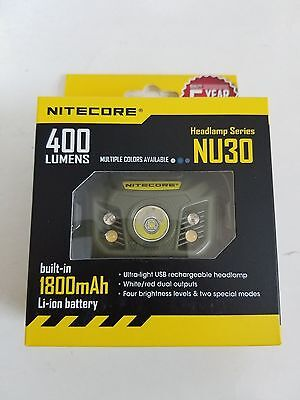 Nitecore NU30 CREE XP-G2 S3 LED USB Rechargeable Headlamp (Army Green)