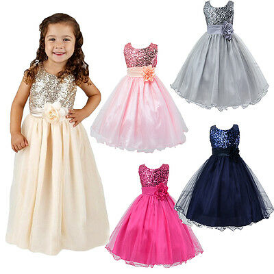 Baby Toddler Girl Flower Party Lace Christening Wedding Formal Occasion Dress