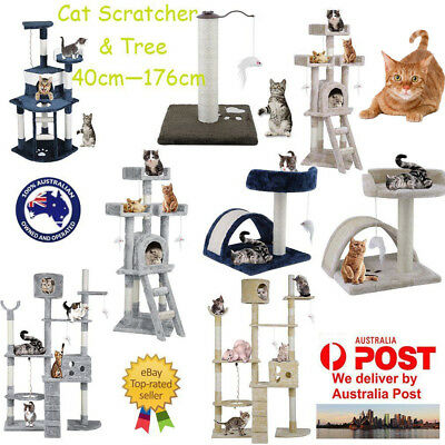 Cat Tree Scratching Post Scratcher Pole Gym Toy House Furniture Multilevel L OZ