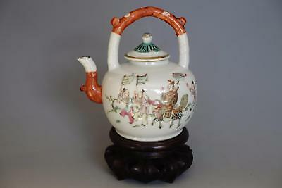 Fine Chinese Antique Famille Rose Porcelain Teapot SUPERB