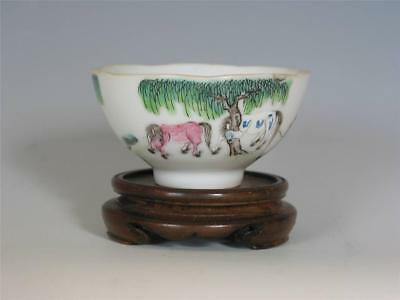 Fine Antique Chinese Daoguang Mark Famille Rose Porcelain Cup SUPERB