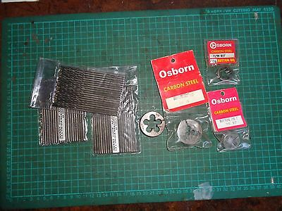 Vintage OSBORN dies and masonry drills, NOS