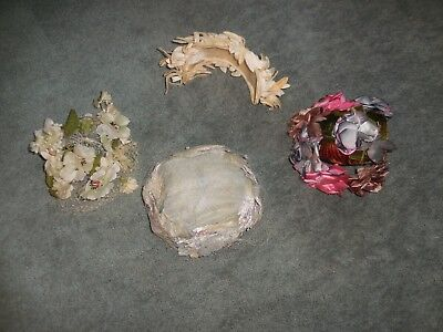 Vintage Women's Hats~Netting~Flowers~4 Different Styles