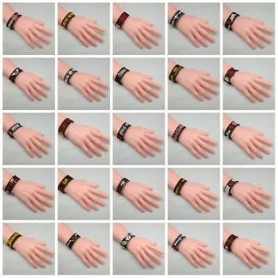 Wristband Rubber Silicon Bracelet Music Unisex Logo Rock Band Cuff Heavy Metal