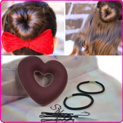 3pcs Heart Shaped Hair Curlers Sponge Curls Rollers Style Styling Roller