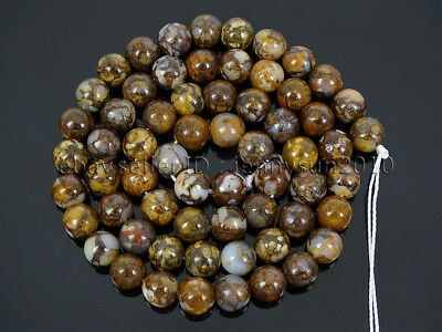 Auction 63Pcs Natural Fire Lace Opal Gemstone Round Spcer Beads 15.5'' 6mm