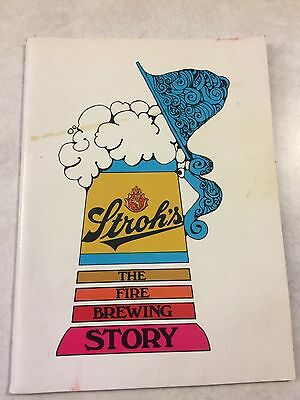 """VINTAGE 1969 STROH'S BEER TOUR BOOK """"THE FIRE BREWING STORY"""" letter John Stroh"""