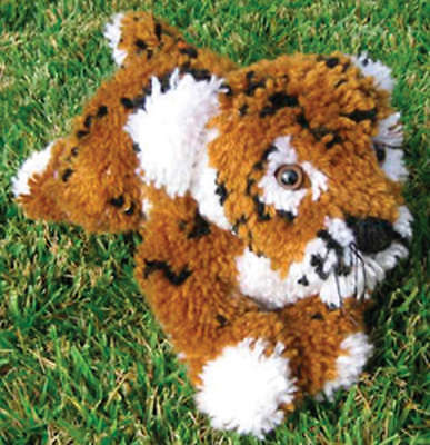 "Huggables Stuffed Toy Latch Hook Kit 16"" Tiger 36118"