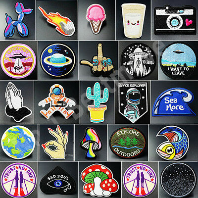 New Patch Iron On/ Sew On Embroidered Badge Bag Fabric Applique Craft