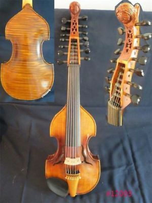 "Baroque style SONG Brand Master 7×7 strings 15"" Viola d'Amore angel head neck"