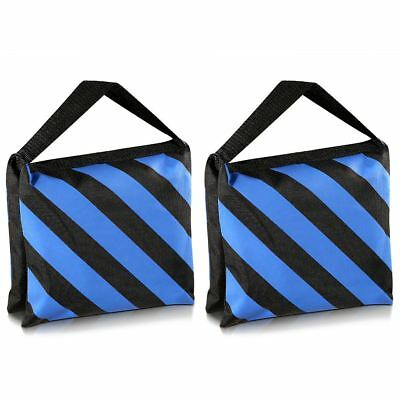 Set of Two Black/Blue Heavy Duty Sand Bag Photography Studio Video Stage Fi D7H2