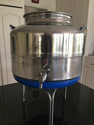 Sansone SA0025-25L Stainless Steel Fusti NSF Certified with Spigot