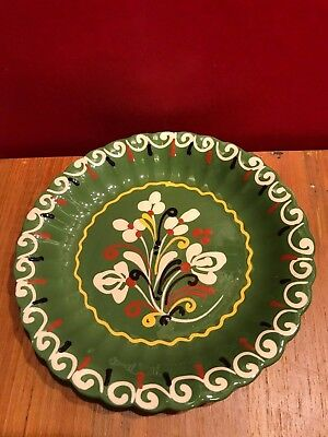 Vintage Ceramic Hand Painted Folk Art Decorative Plates Made in Hungary 7  ...  sc 1 st  PicClick & VINTAGE CERAMIC HAND Painted Folk Art Decorative Plates Made in ...