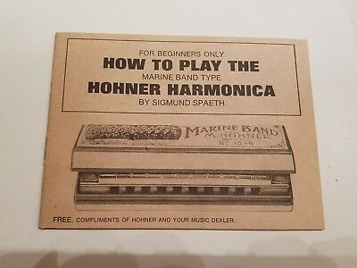 How To Play The Horner Harmonica 1971 Pb