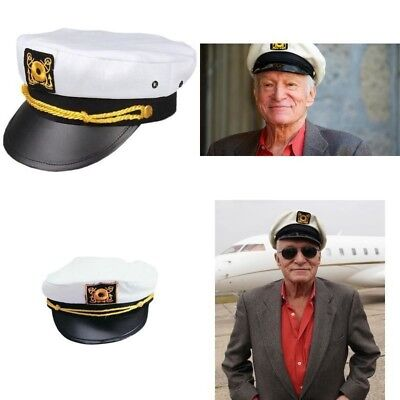 Replica Hugh Hefner Hat Adult Playboy Yacht Captain Hat Costume Accessory 1 Size