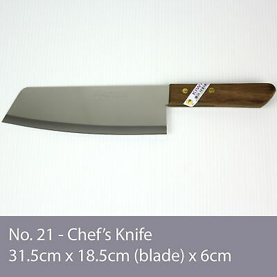 No. 21 KIWI Knife Kitchen Chef Knives Stainless Steel Blade Cook Cleaver Wood