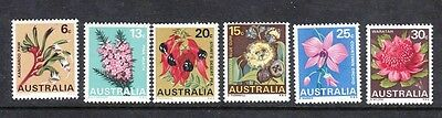 1968 Australian Decimal stamps - Flowers - Floral Emblems MNH set of 6 SG420/5