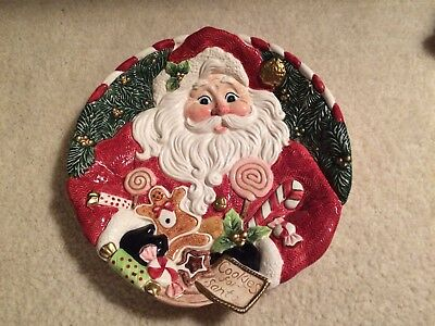 Fitz And Floyd 1996 Cookies For Santa Plate