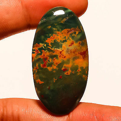 Blood Stone Natural Gemstone Oval 54 Carats