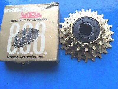 New Old Stock Boxed Vintage Suntour 888 Pro Compe Gold Freewheel,5 Speed,14-24T