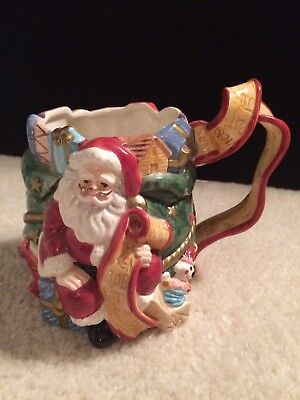 Fitz And Floyd 1994 Santa's List Mug