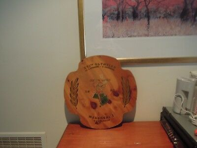 Vintage Melbourne Olympics Olympic Games 1956 Wooden Plaque