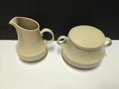 LNE2 by Lord Nelson Creamer and Sugar Bowl w Lid Set Beige