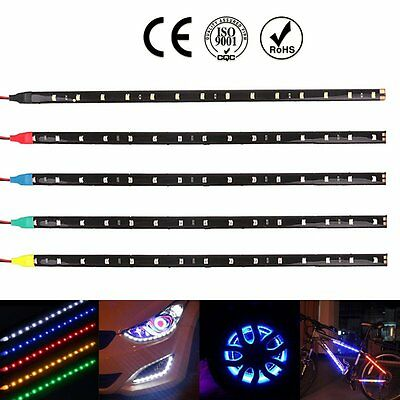 5 Colors 12V 15 LED 30cm Car Motor Vehicle Flexible Waterproof 3528 Strip Light