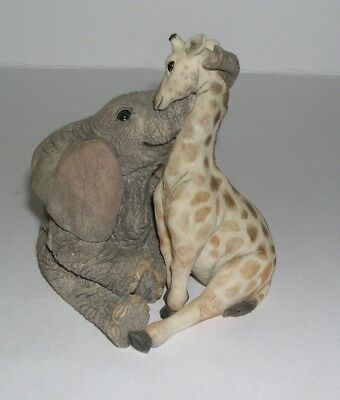 Country Artists Elephant Tuskers Georgina & Geraldine Giraffe Best of Friends