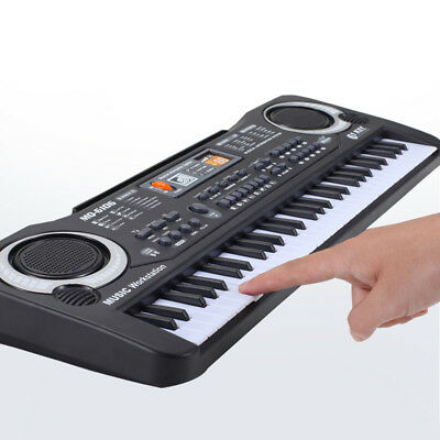 61 Keys Electronic Keyboard Piano for Kids with Microphone Power Cord Natural