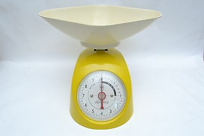 Funky Genuine Vintage Yellow Spinney Kitchen Scales