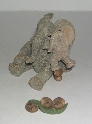 Country Artists Elephant Tuskers Love is A Hug with Name Tag 90928 from 2001