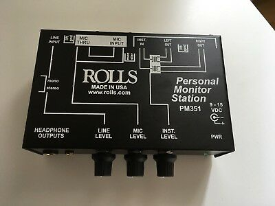 Rolls PM351 Personal Monitor Mixer System IEM in ear