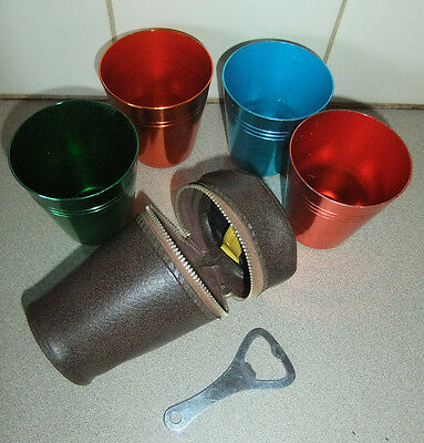 VINTAGE SET OF TRAVEL CUPS, good used condition