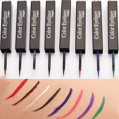 8 Colors Liquid Eye Liner Stick Stage Eyeliner Pencil Makeup Cosmetic Waterproof