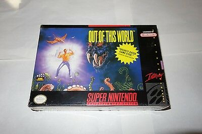 Out of This World (Super Nintendo Entertainment System SNES, 1992) NEW Sealed