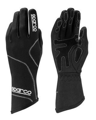 Sparco Groove GLOVES size 4-12 Black White KART RACE RALLY Sport Drive NEW 2017