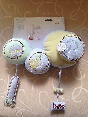 Musical Toy -Brand Mamas & Papas- Velcro Ties To Baby Cot- New