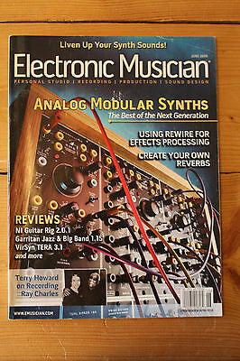 Electronic Musician N° 6 - Juin 2006 - Analog Modular Synths - Revue américaine