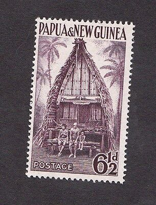 1952 Papua New Guinea Stamps - 6 1/2d Chief's Hut - MH - Sc#128