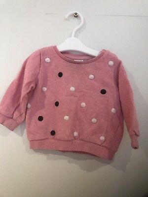 Seed Heritage Baby Pink Polka Dot Jumper - Size 6-12 Months