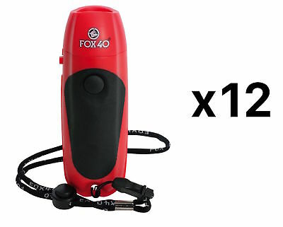 Fox 40 3-tone Electronic Whistle 125 Db w/ Lanyard & 9 Volt Battery (12-Pack)