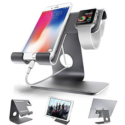 Universal 2 in 1 Charging Stand Fit For iWatch, Smartphone -Space Grey 42MM Case